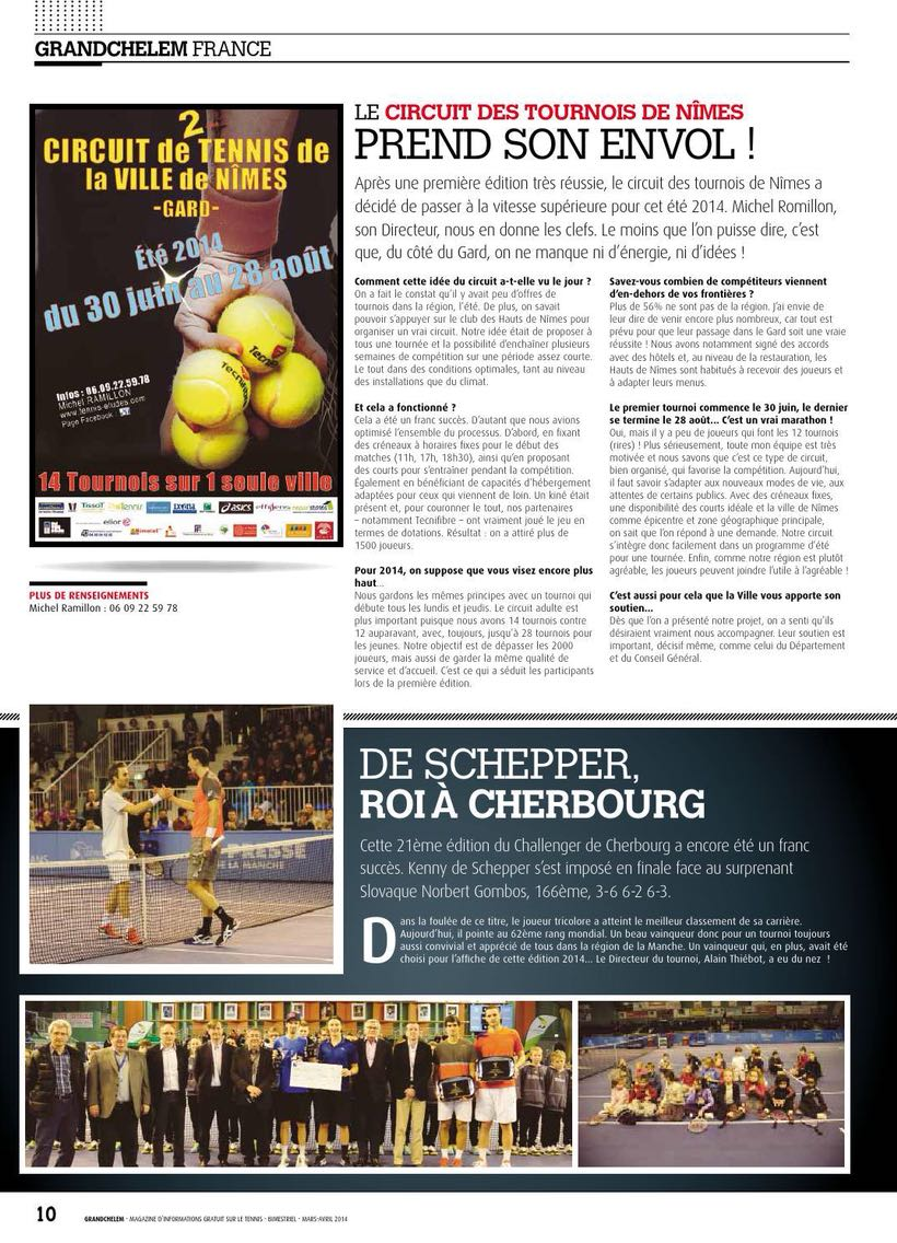 article de presse nationale - GrandChelem -